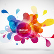 Royalty-Free Stock Vector Image: Abstract colored background with circles.