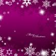 Kerstmis paarse achtergrond met sneeuwvlokken — Stockvector