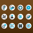 Set of black and blue icons. Vector — Stock Vector #6386579