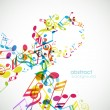 Abstract background with tunes.  — Stock Vector #6389612