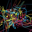 Royalty-Free Stock Vectorafbeeldingen: Abstract background with tunes.