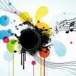 Royalty-Free Stock Imagen vectorial: Abstract background with tunes.