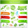 Cтоковый вектор: Set of green ecology icons.