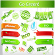 Stock vektor: Set of green ecology icons.
