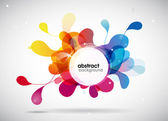 Abstract colored background with circles. — Stok Vektör