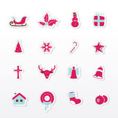 Colorful Christmas icons. — Stock Vector