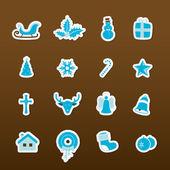 Bunten weihnachts-icons. vektor — Stockvektor
