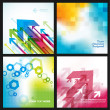 Four abstract backgrounds. — Stockvektor