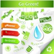 Set of green ecology icons. - Stock Vector