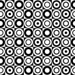 Black and white circle pattern. Vector art - Stock Vector