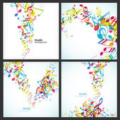Abstract backgrounds with tunes. — Stock Vector