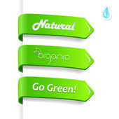 Set of ecology signs. — Stock Vector
