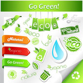 Set of green ecology icons. — Stock Vector