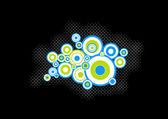 Blue, green circles. Vector art — Stock Vector