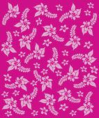 Hawaii pink flowers. Vector art. — Stock Vector
