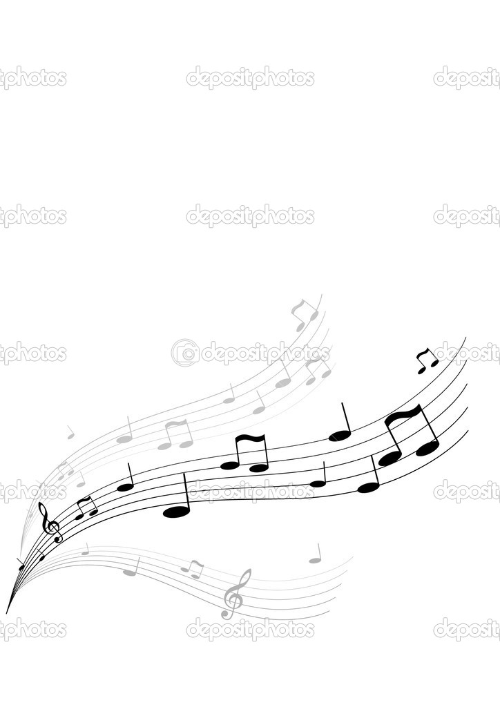 Flying music on white background. Vector art. — Stock Vector #6448192