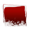 Red board with snowflakes. Vector — Stock Vector
