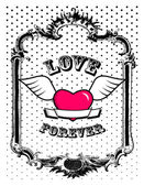 Coeur rose en trame. vector art — Vecteur