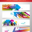 Set of abstract colorful web headers. — Stock Vector #6728172