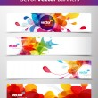 Set of abstract colorful web headers. — Stock Vector #6728193
