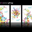 Set of abstract colorful music tags. — Imagens vectoriais em stock