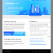 Stock Vector: City website template.