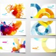 Set of abstract colorful splash gift cards. — Stock Vector