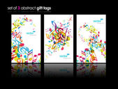 Set of abstract colorful music tags. — Stock Vector
