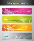 Conjunto de cabeceras web colorido abstractos. — Vector de stock