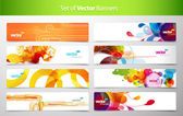 Set of abstract colorful web headers. — Stockvektor