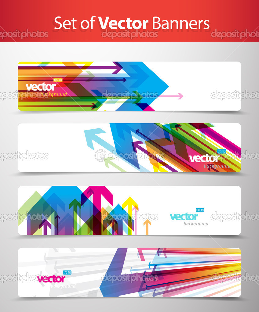 Set of abstract colorful web headers.  Stock Vector #6728172