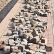 Many cobblestones — Stock Photo
