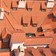 Old red roofs with dormers — Stock Photo