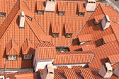 Old red roofs with dormers — Stok fotoğraf
