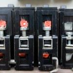 Old circuit breakers — Stock Photo