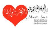Love music — Stock Photo