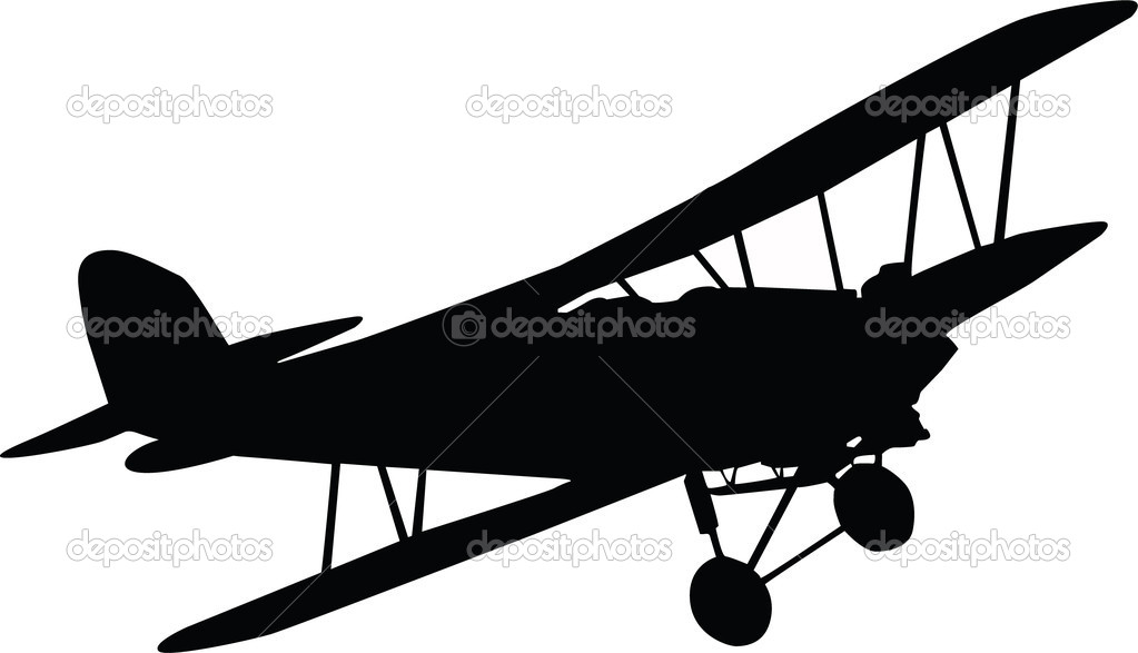 Black plane isolated on white background — Stock Photo #6372359