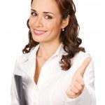 Businesswoman, isolated on white — Stock Photo