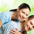 Portrait of young happy smiling couple — Stock Photo #6325639