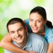 Portrait of young happy smiling couple — Stock Photo #6325651