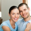 Portrait of young happy smiling couple — Stock Photo