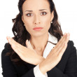 Businesswoman with stop gesture — Stock Photo