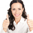 Businesswoman with thumbs up, on white — Stock Photo #6573236