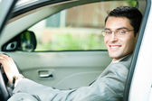Businessman in the car — Foto Stock