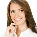 geschäftsfrau weiß — Stockfoto