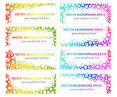 Set of eight banners — Stock Vector