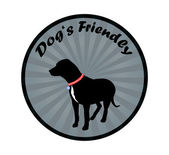 Dogs Friendly Sign — Stock Vector