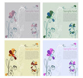 Illustrated Floral Set with area for your text — Vector de stock