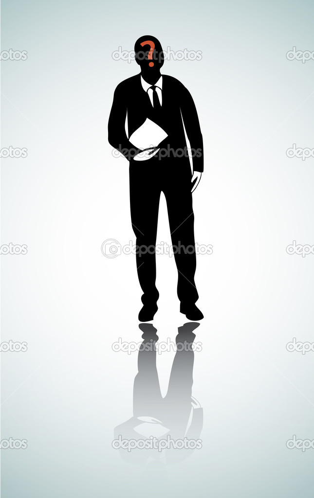 Black Silhouette on White Background, vector  Stock Vector #6312194