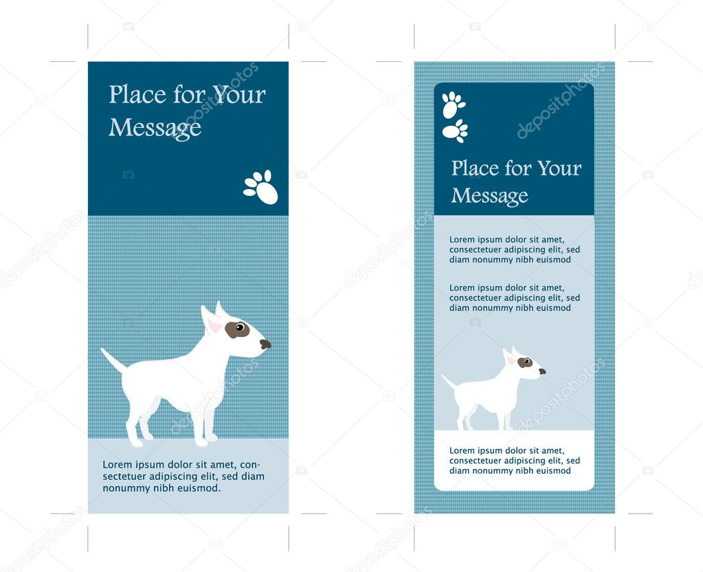 4x9 Rack Card Template with crop marks Vector 6312333 – Rack Card Template